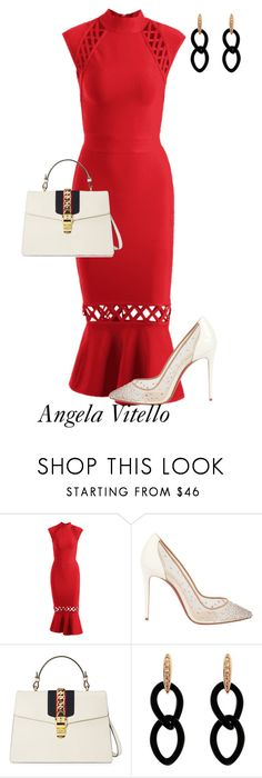 """""""Untitled #1039"""" by angela-vitello on Polyvore featuring Christian Louboutin, Gucci and Jona"""