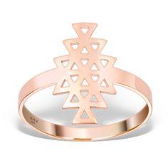Inel cu design complex, NEW FIRE din aur roz Aur, Aztec, Unic, Design, Jewelry, Jewels, Schmuck, Jewerly, Jewelery