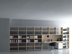 Desk and storage set by Piero Lissoni / commercial SYSTEM  Porro