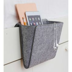 Keep your bedside area clutter free with the Bedside Pocket storage solution. Attaches to any bed or sofa for quick storage of personal items. Bedside Caddy, Bedside Organizer, Bedside Storage, Hanging Organizer, Hanging Storage, Bedroom Storage, Diy Bedroom, Bedside Tables, Pocket Organizer