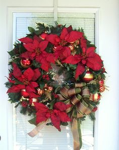 Deck the Halls Traditional Christmas Wreath by dewdropdaisies, $89.00