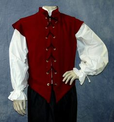 Designs by Kate offers a great selection of jerkins and doublets for the gents out at faire.