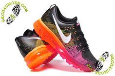 competitive price 368bd 48b79 nike chaussure pas cher femme Air Max 2014 Noir Rose Orange Nike Air Max