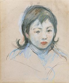 Artwork by Berthe Morisot, Portrait D'enfant (Charly Thomas), Circa 1893 Made of Pastel on paper