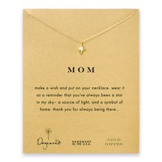 mom north star necklace, gold dipped - Dogeared #dogeared #sharethehappy