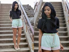 Mint with Pink Lace (by Sharena C.) http://lookbook.nu/look/3438391-Mint-with-Pink-Lace
