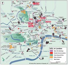 Map of neighbourhoods in London