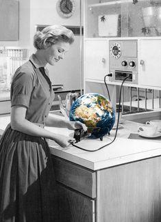 The heat is on. Vintage collage by Annette von Stahl.