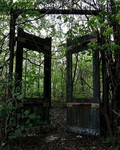 old gates to abandoned garden
