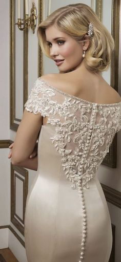 Wedding dress idea; via Justin Alexander