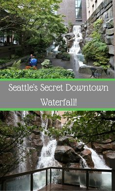 Seattle's secret downtown waterfall. Waterfall Garden Park constructed in 1978. Interesting article & more pretty pics.