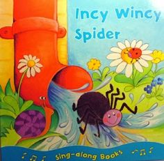 Incy wincy spider Climbed up the water spout, Down came the rain And washed poor Incy out, Out came the sun shine And dried up all the rain, And Incy Wincy spider Climbed up the spout again. Spider Book, Water Spout, Nursery Rhymes, Fairy Tales, Bubbles, Wall Art, History, Books, Sun Shine