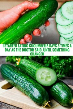 I Started Consuming Cucumber 3 Times Per Day As The Doctor Said, After 5 Days Something Changed