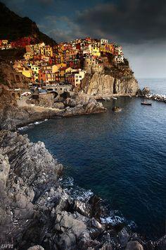 Manarola, Cinque Terre by Liron Hamelnick, via 500px