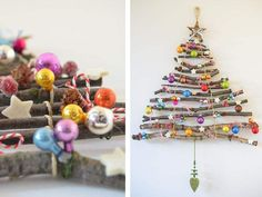 Don't want a regular Christmas tree this year? Check out these 60 alternative Christmas tree ideas that are simple and festive. Creative Christmas Trees, Diy Christmas Tree, Christmas Makes, Xmas Tree, Christmas Tree Decorations, Christmas Holidays, Christmas Ornaments, Holiday Decor, Traditional Christmas Tree
