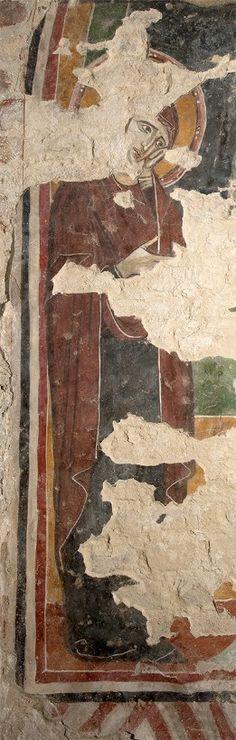 Giunta Pisano (Giunta Capitini, detto) - la Vergine della Crocifissione - affresco - Cripta di San Colombano a Bologna