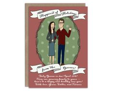Custom Pregnancy Announcement Christmas Card by WrittenInDetail