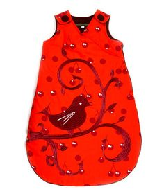 Red Bird #Baby Sleeping Bag. How adorable is this? We love this super-sweet sleep sac from Georges et Rosalie. Made from 100% cotton for maximum comfort.