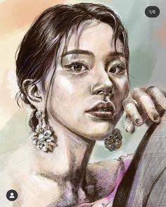 Sketch Art, Drawing Sketches, Colorful Drawings, Kpop Girls, Fanart, Portrait, Tattoos, Tatuajes, Colourful Designs