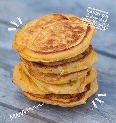 Butternut squash, goat cheese and rosemary pancakes are amazing for little baby snacks. Homemade baby food perfect for baby led weaning.