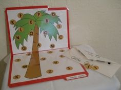 Chicka Chicka Boom Boom File Folder Game Idea (matching uppercase to lowercase). File Folder Activities, File Folder Games, Phonics Activities, Alphabet Activities, Language Activities, Book Activities, File Folders, Kindergarten Activities, Classroom Activities