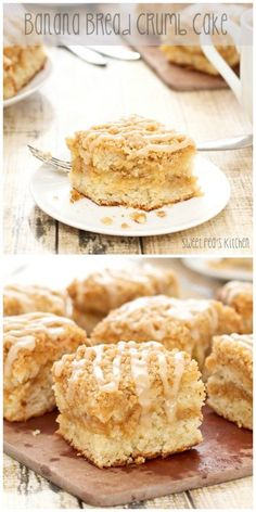 Oh, you guys. Do I have a treat for you today! I combined a cinnamon crumb cake with freshly baked banana bread and the result was, well, it was phenomenal. A s