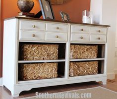 Vintage Dresser turned Pottery Barn Style Storage Unit Do you have a love, hate relationship with legos? Because I do. I am tired of stepping on them, worrying the baby will swallow them and seeing them slowly take over every room in my house. But, they're educational and my child is sure to be a …