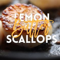 All you need is 5 ingredients and 10 minutes for the most amazing, buttery scallops ever. Yes, it's just that easy and simple! All you need is 5 ingredients and 10 minutes for the most amazing, buttery scallops ever. Yes, it's just that easy and simple! Seafood Recipes, Gourmet Recipes, Cooking Recipes, Tilapia Fish Recipes, Cooking Eggs, Cooking Games, Cooking Ideas, Dinner Recipes, Good Food