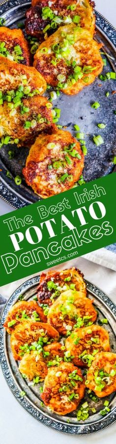 """These are the best Irish Potato Pancakes ever – crunchy, perfectly fried, and great alongside your favorite Irish dinner for a delicious family favorite side dish!  Irish food is something we take seriously in our house. I'm half Irish on each side of my family, and we've always enjoyed making delicious meals based on … Continue reading """"The Best Irish Potato Pancakes Ever"""" Irish Dinner, Main Dishes, Side Dishes, Irish Potatoes, Mashed Potatoes, Sweet Potato Brownies, Pub Food, Irish Recipes, Irish Meals"""