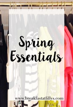 Today on Breakfast at Lilly's I am sharing some of my spring essentials.