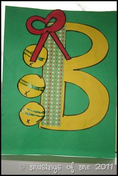 """B is for Bell"" craft to go with book, I Know An Old Lady Who Swallowed a Bell"