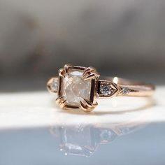 ice diamond ring in rose gold #goldweddingrings