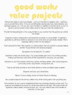 Stand & Shine Magazine: Good Works Value Projects
