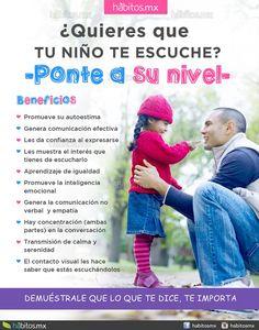 Hábitos Health Coaching   ¿Quieres que tu niño te escuche? Ponte a su nivel, no hay nada mejor