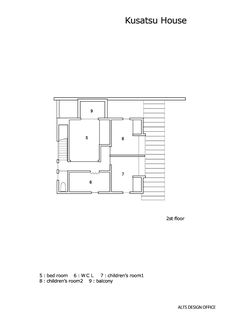 Kusatsu House,Second Floor Plan