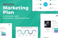 Marketing Plan Powerpoint Template by SlidePro on @creativemarket