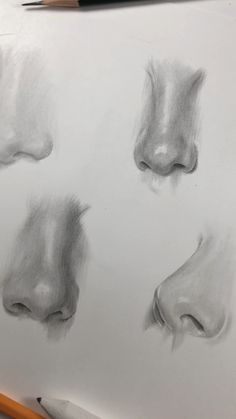 Drawing parts of the face. Drawing of the nose. How I draw the nose. Drawing parts of the face. Drawing of the nose. How I draw the nose. Cool Art Drawings, Pencil Art Drawings, Realistic Drawings, Beautiful Drawings, Art Drawings Sketches, Drawings Of Faces, Cute Drawings Of People, Drawing People Faces, Nose Drawing