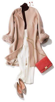 Gaharu Casual Fashion Chiffon Holiday - Now Outfits Office Fashion, Business Fashion, Work Fashion, Hijab Fashion, Fashion Dresses, Fashion Design, Japanese Outfits, Japanese Fashion, How To Have Style