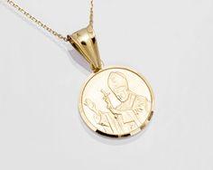 Złoty medalik z Janem Pawłem II. 00468 Sklep Złoto-Orla Warszawa
