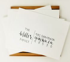 Modern white and black wedding envelope with custom calligraphy! Perfect for your modern yet classic wedding! Hand Lettering Envelopes, Mail Art Envelopes, Calligraphy Envelope, Envelope Art, Envelope Design, Wedding Envelopes, Brush Lettering, Lettering Styles, Calligraphy Fonts