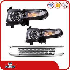 angel eyes projector lens led headlight for Toyota FJ Cruiser 2007-up led headlight lamp front light plus front GRILLE