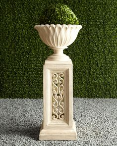 Shop outdoor fountains and planters at Horchow. Make an outdoor statement with these beautiful fountains and planters. Container Plants, Container Gardening, Plant Design, Garden Design, Urn Planters, Garden Urns, Garden Ornaments, Vases, Flower Pots
