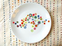 Decorative hand painted porcelain plate Humming por roootreee