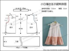 Como hacer vestidos para niñas de 4 a 6 años01