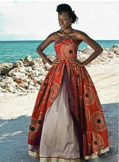 African ball gown..