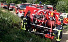 Saint-Georges-les-Bains | Manoeuvre des sapeurs-pompiers ardéchois
