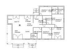 Maison plain pieds - 4 chambres