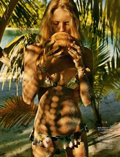 #fashion #woman #inspiration #trend #style #model #green #jungle #plant #tropical