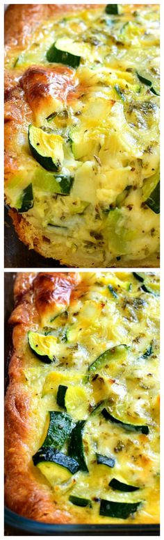 Cheesy Zucchini Bake ~ Delicious for breakfast, lunch, or dinner... and so easy to make.