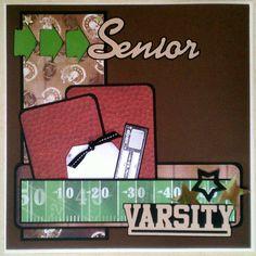 Senior Varsity Football 12x12 premade scrapbook by ohioscrapper, $15.00